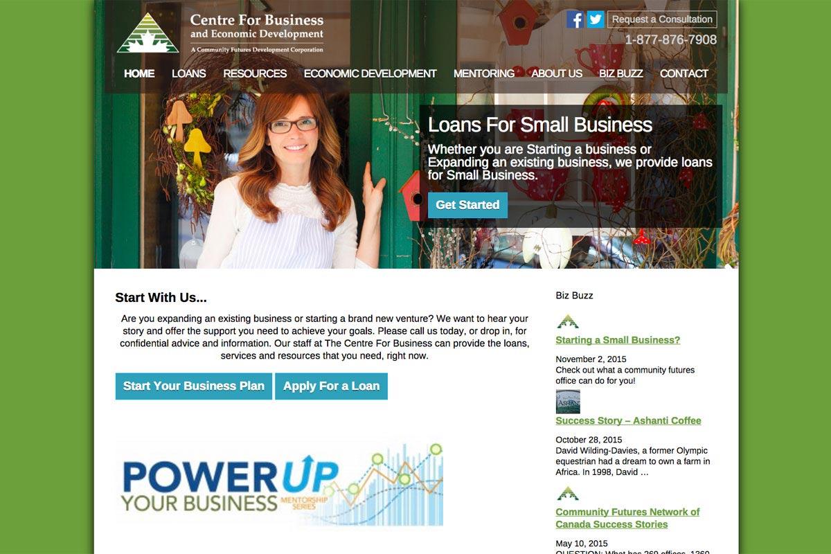 Centre-For-Business-website-screenshot