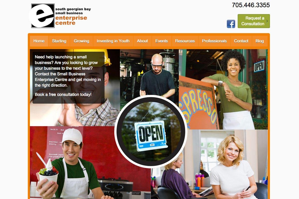 Enterprise-Centre-Collingwood-website-screenshot