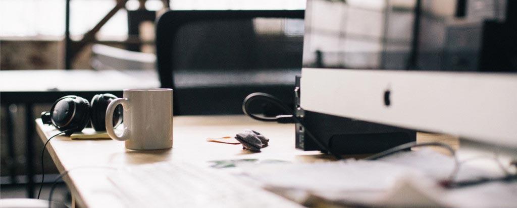 website designer desk scene