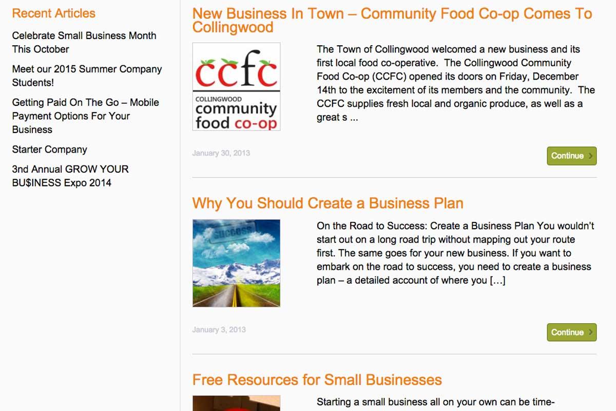 Enterprise-Centre-Collingwood-content-creation