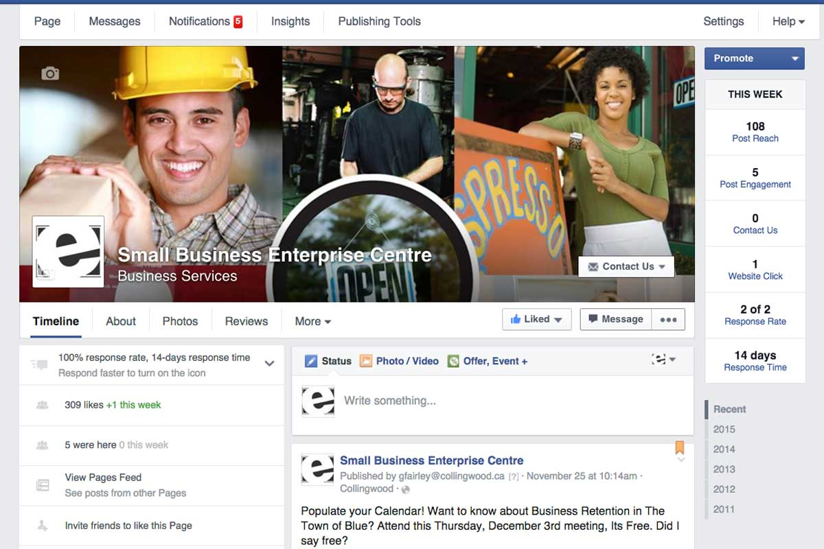 Enterprise-Centre-Collingwood-facebook-screenshot