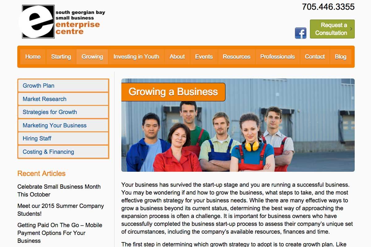 Enterprise-Centre-Collingwood-website-screenshot-2
