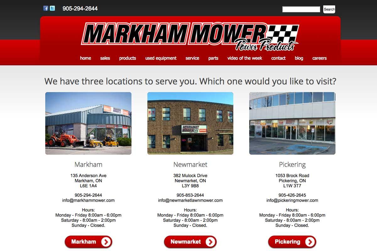 markham-mower-landing-page-screenshot