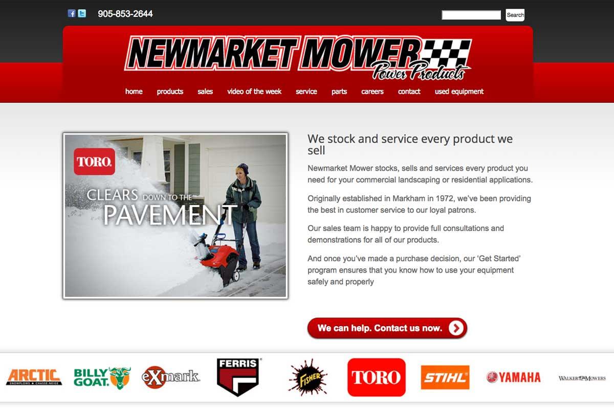 newmarket-mower-website-screenshot