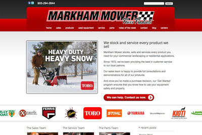 Markham Mower Power Equipment
