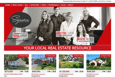 SignatureSOLD REALTOR® website