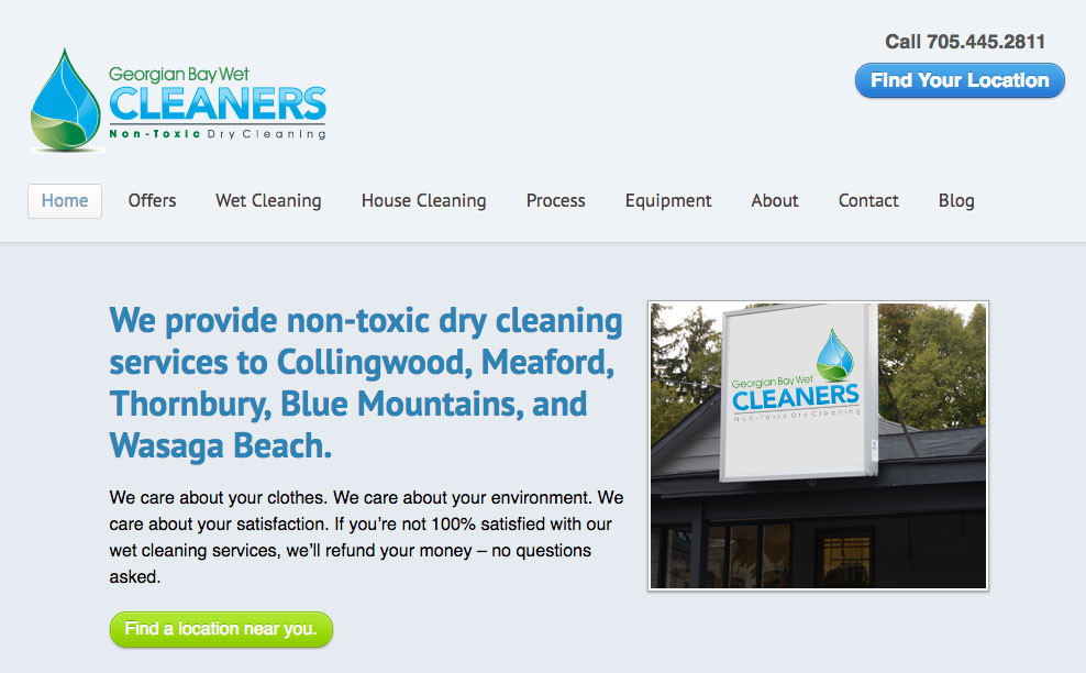 Client Profile – Georgian Bay Wet Cleaners