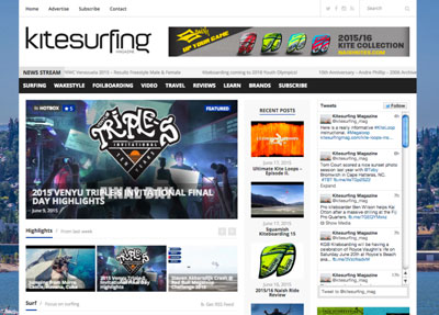 Kitesurfing Magazine Website