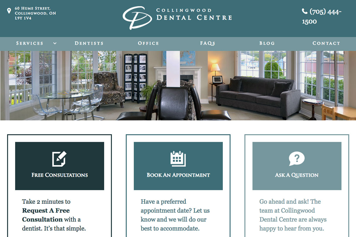 collingwood-dental-centre-wordpress-website-design