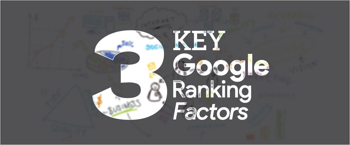 3 Key Google ranking factors