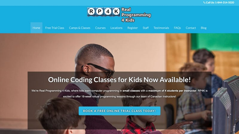 Screenshot of the RP4K website