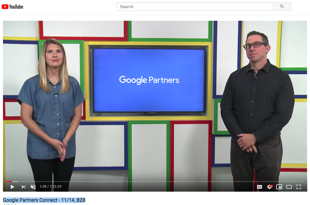 Re-watch the livestream – Google Partners Connect – B2B in the Age of Assistance