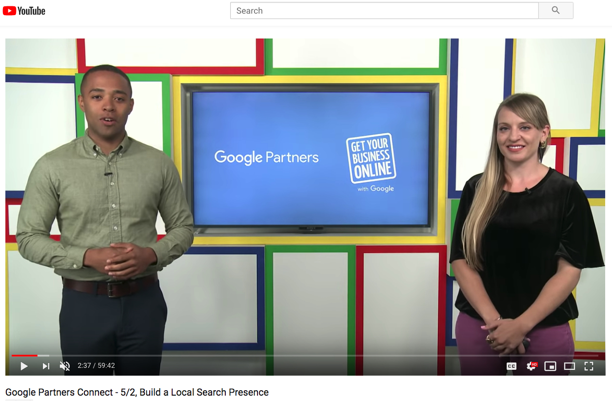 Re-watch the livestream – Google Partners Connect – Understanding Local Search And How It Impacts Your Business