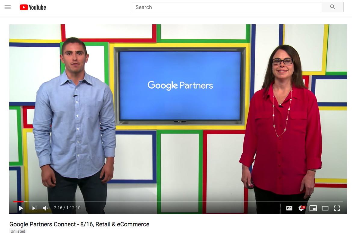 Re-watch the livestream – Google Partners Connect – Digital Marketing For The Retail Industry