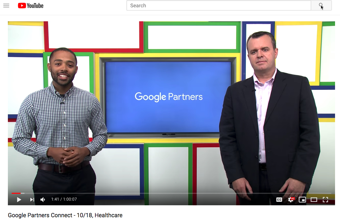 Re-watch the livestream – Google Partners Connect – Digital Marketing for Healthcare Providers