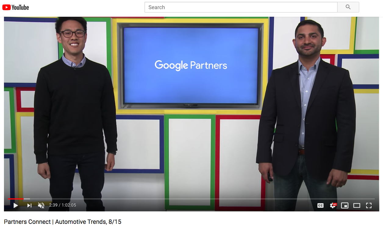 Re-watch the livestream – Google Partners Connect – Automotive Trends